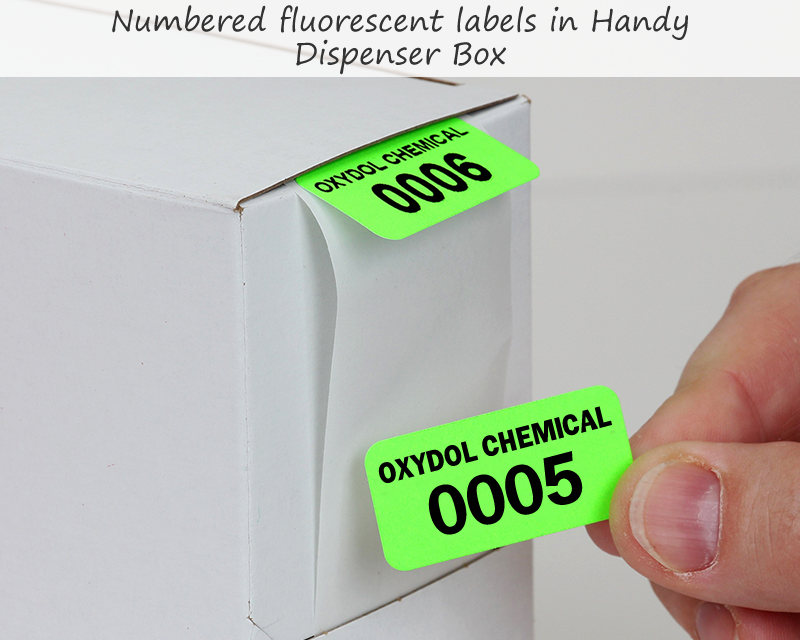 Fluorescent Labels Consecutively Numbered